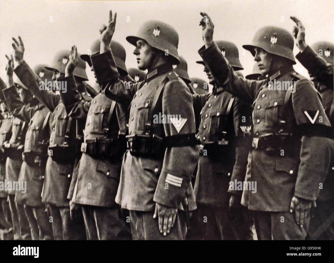 Soldiers swearing in of the regiment General Goring 1 January  1935 Berlin Nazi Germany - Stock Image
