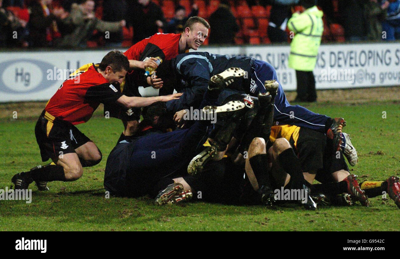 SOCCER Partick - Stock Image