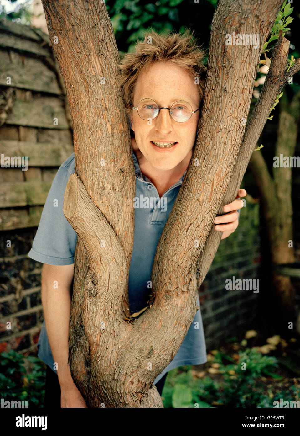 Jon Ronson English author, screenwriter and journalist photographed at his home in London, England, United Kingdom. - Stock Image