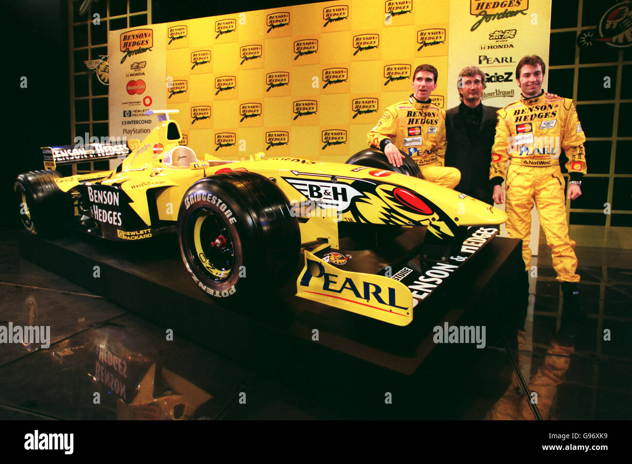 Formula One Motor Racing Jordan Mugen Honda Launch Stock Photo Alamy