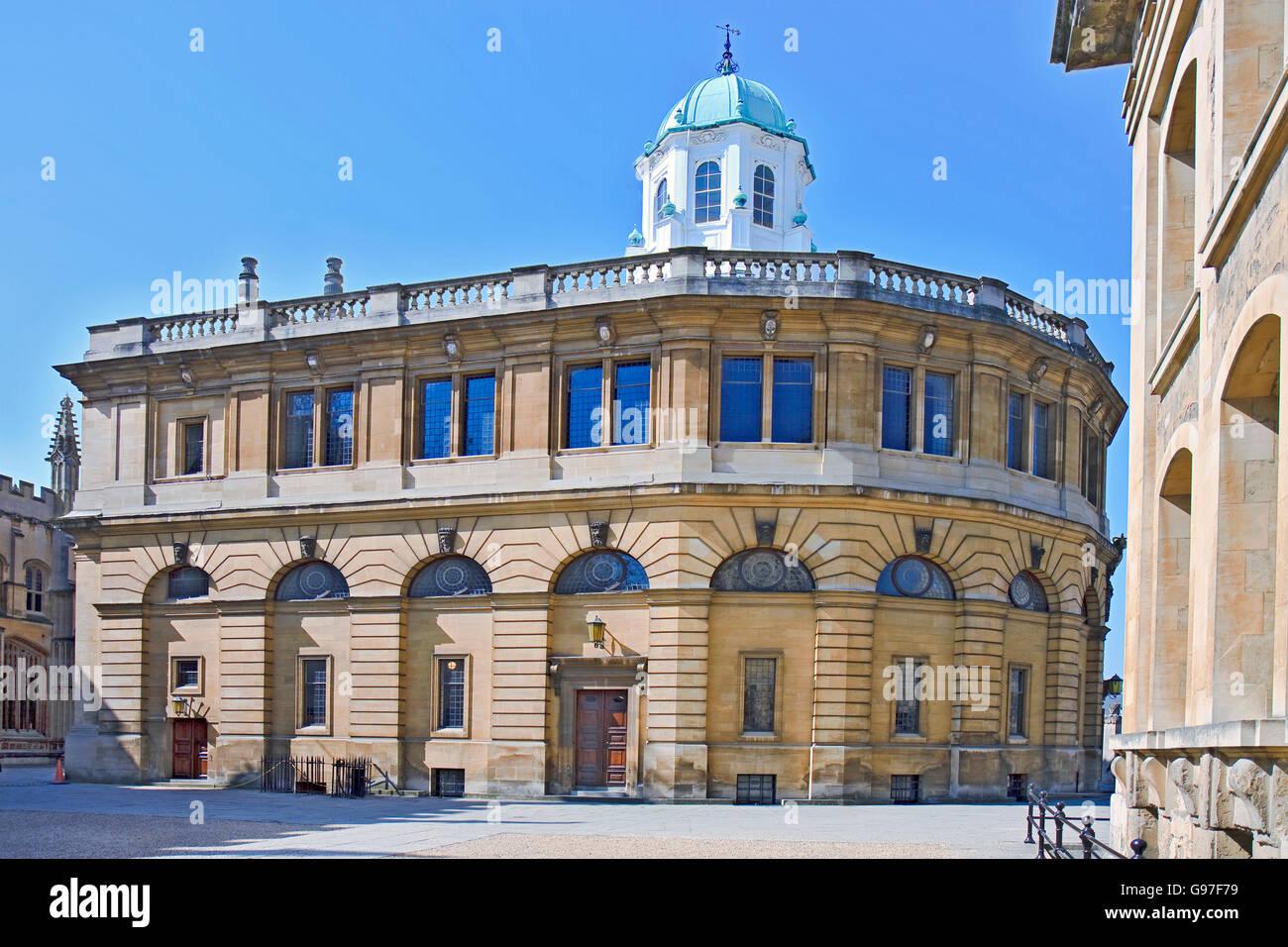 UK Oxford Sheldonian Theatre Stock Photo