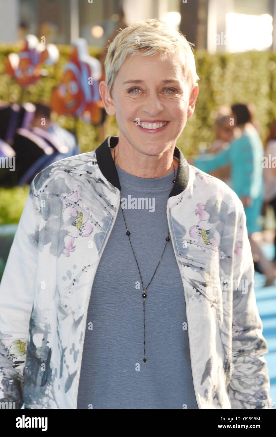 ELLEN  DeGENERES US TV personality in June 2016. Photo Jeffrey Mayer - Stock Image