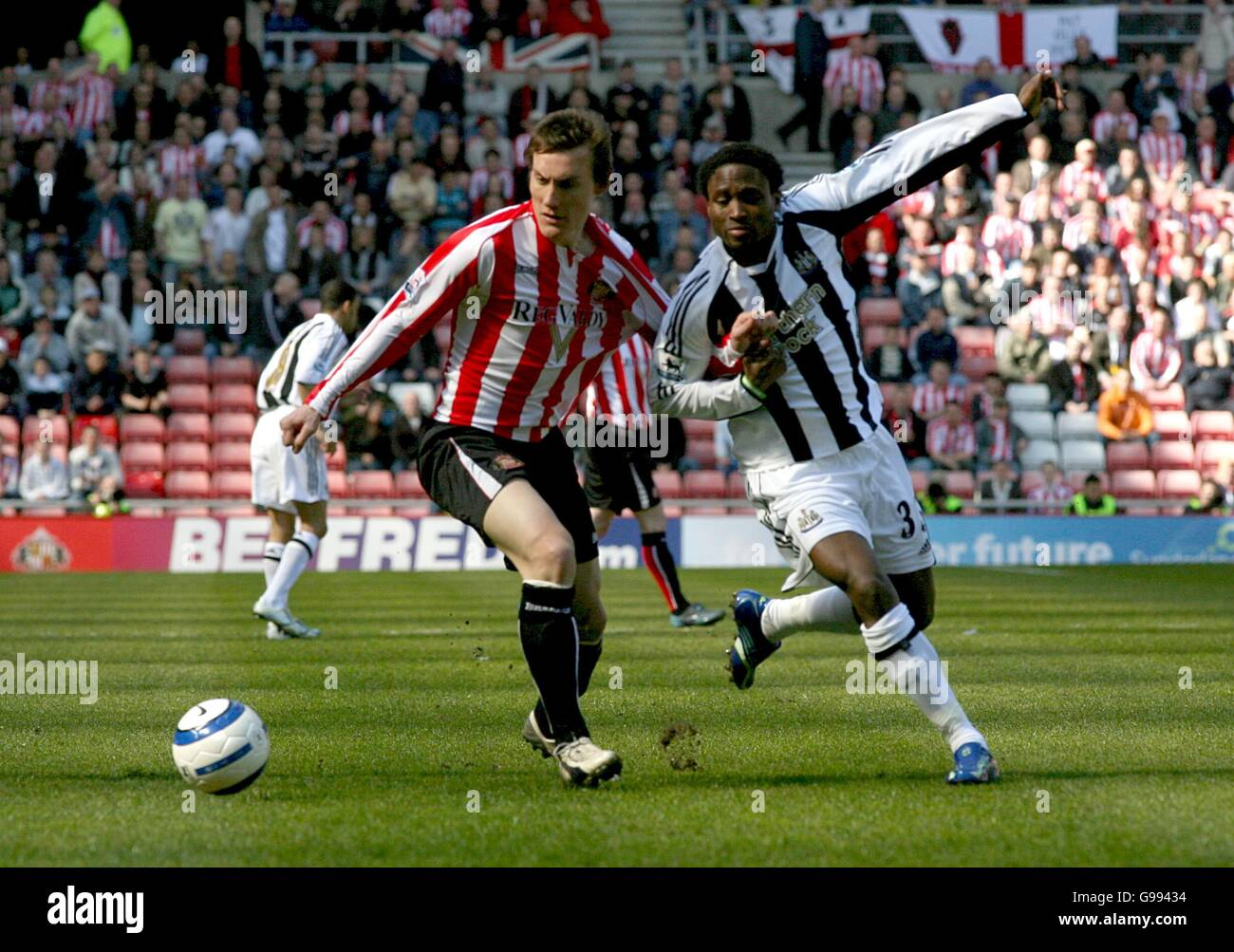 Soccer - FA Barclays Premiership - Sunderland v Newcastle United - The Stadium of Light - Stock Image