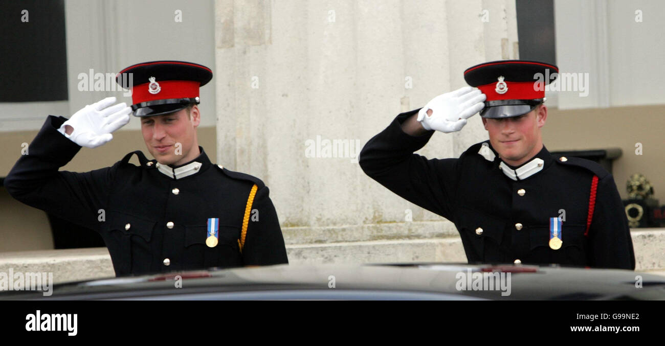 Prince Harry Graduates Sandhurst In The Passing Out Sovereign's Parade  -Sandhurst Military Academy - Stock