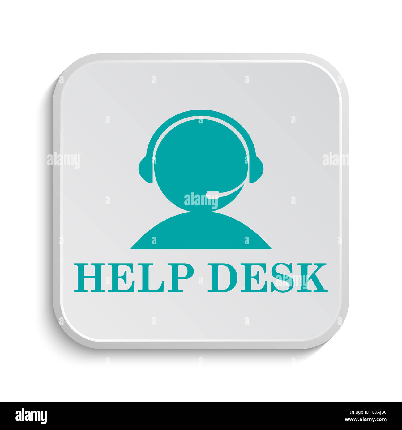 Good Helpdesk Icon. Internet Button On White Background. Images