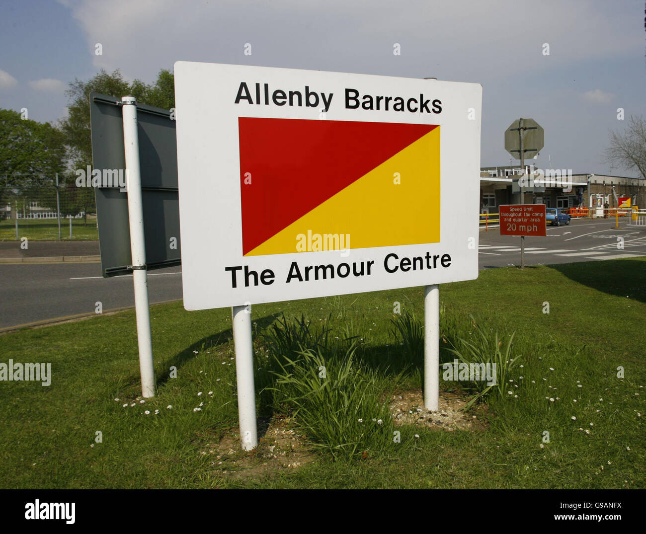 General view of the Army's Armour Centre, Allenby Barracks, Bovington near Wareham, Dorset. Prince Harry will - Stock Image