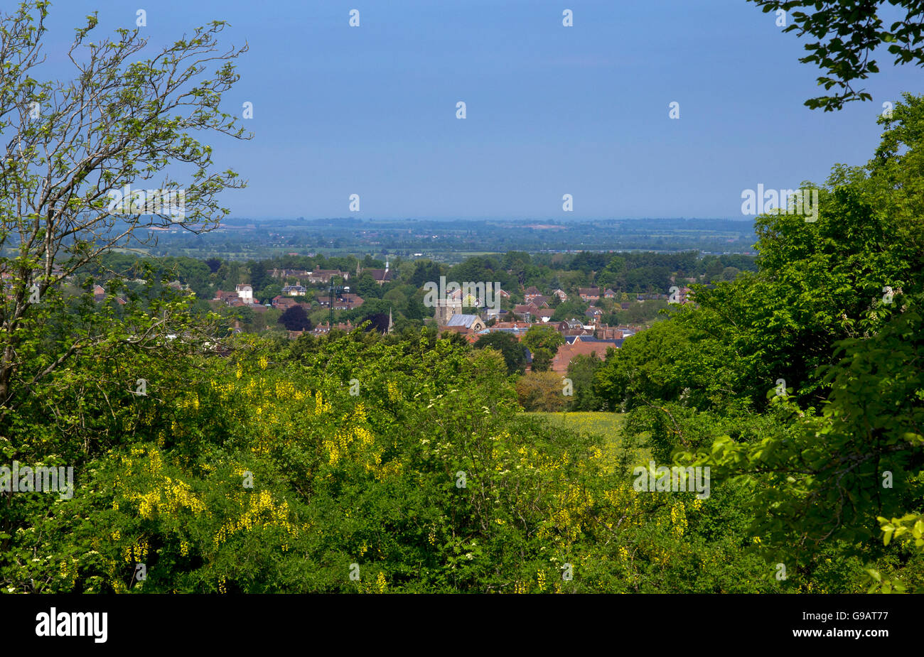 Wantage Thames valley Oxfordshire - Stock Image