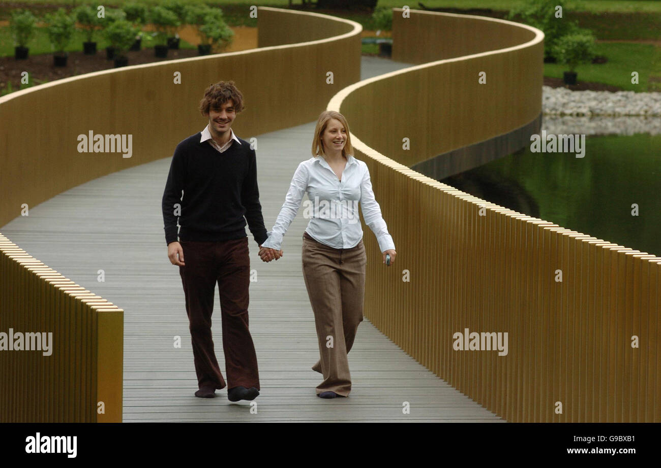 Kew Gardens\' press officers Oliver Basciano and Lauren Bird stroll ...