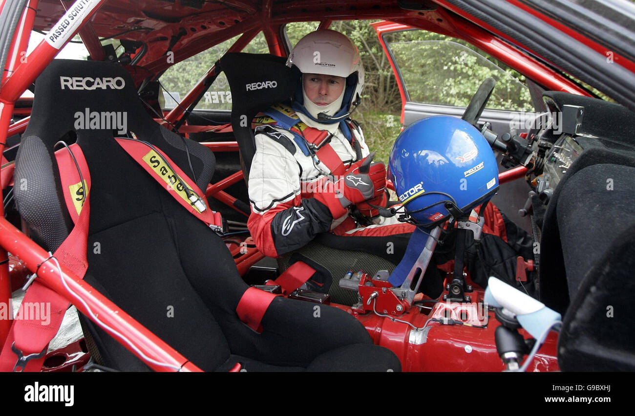 Former World Rally champion Colin McRae in action on a preview day ...