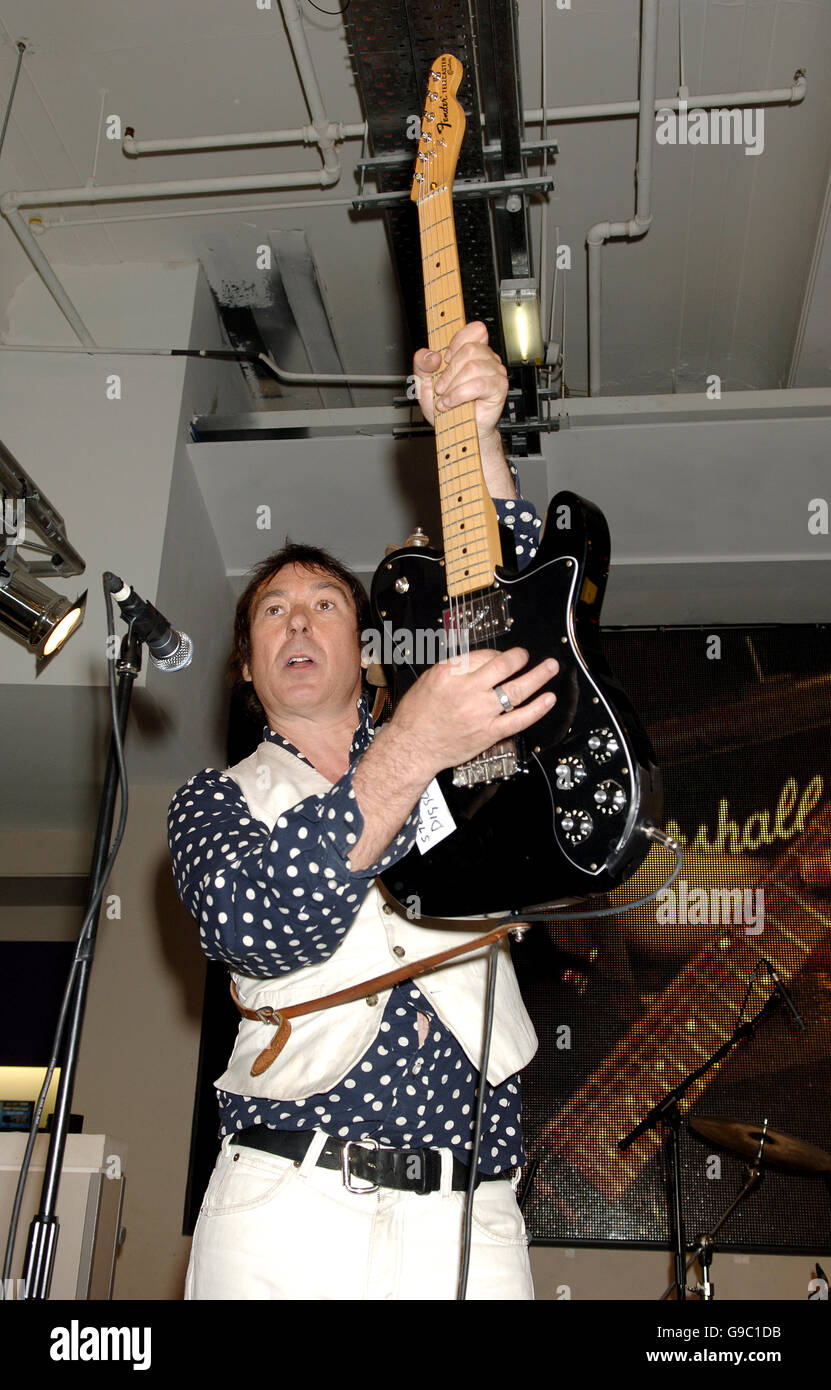 Steve Diggle of the Buzzcocks performs on stage during the MOJO Honours List launch - which comprises 10 awards, - Stock Image