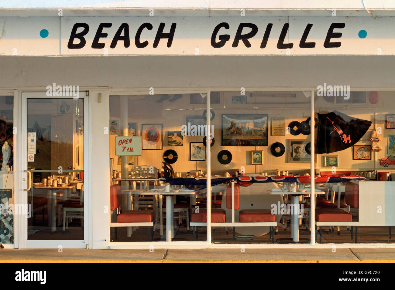 The Beach Grill coffee shop at the Crusader Hotel, Wildwood Crest, New Jersey, USA - Stock Image
