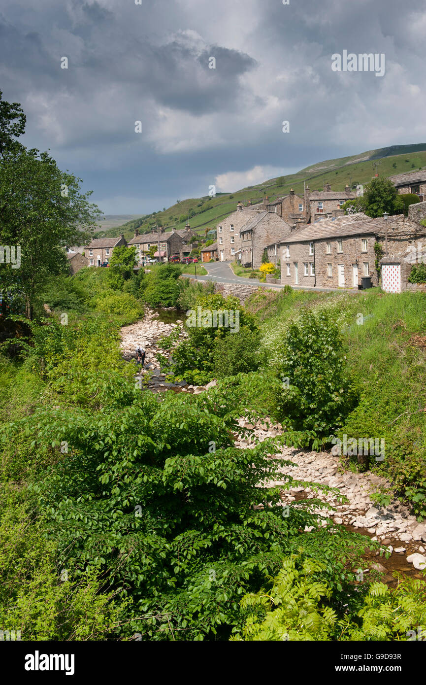 Village of Muker in Swaledale, North Yorkshire, in early summer. - Stock Image