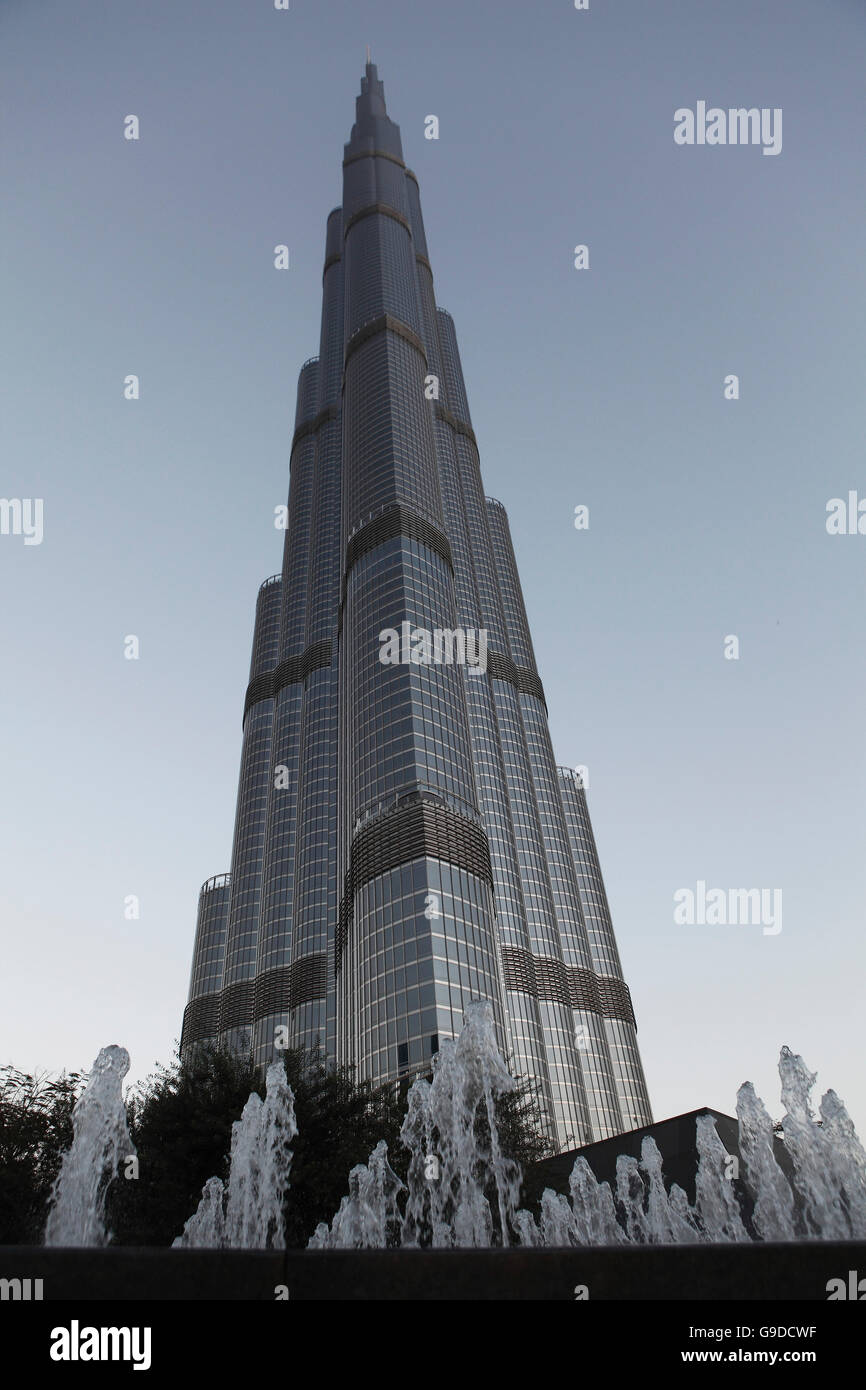 Burj Khalifa, Chalifa, 828m, tallest building in the world, Dubai, United Arab Emirates, Middle East - Stock Image