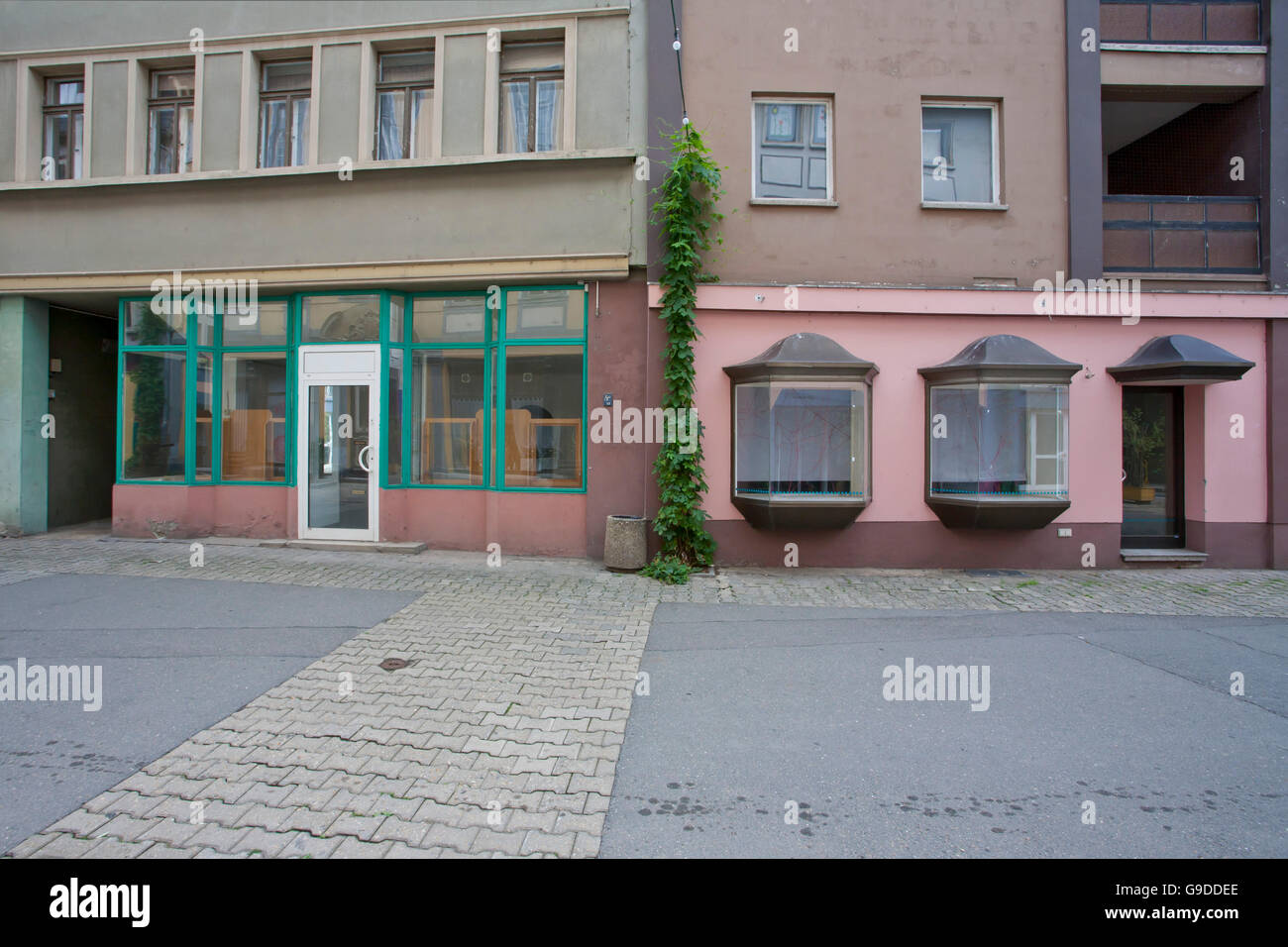 Vacant shops in the pedestrian zone, Gera, Thuringia - Stock Image