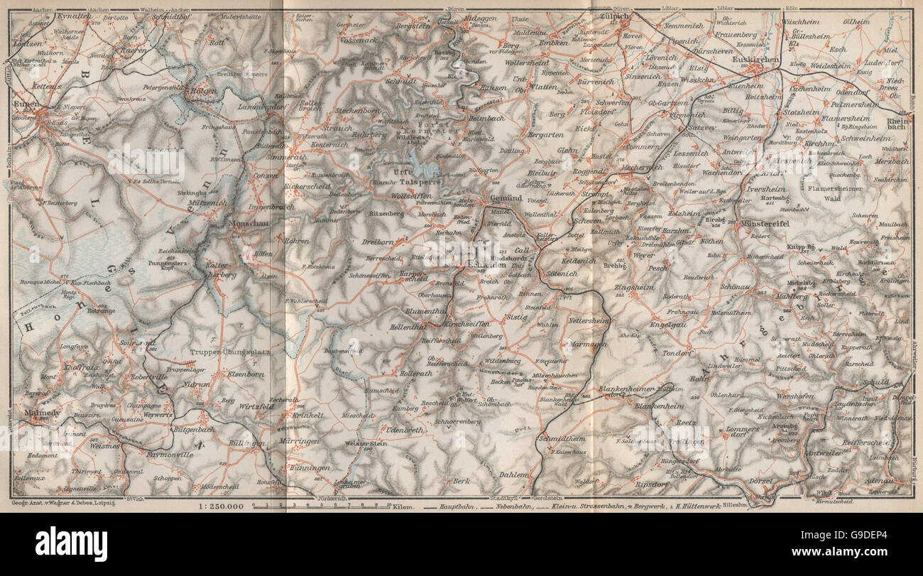 Karte Eifel.Nordeifel North Eifel Urfttalsperre Gemünd Zulpich Euskirchen Karte