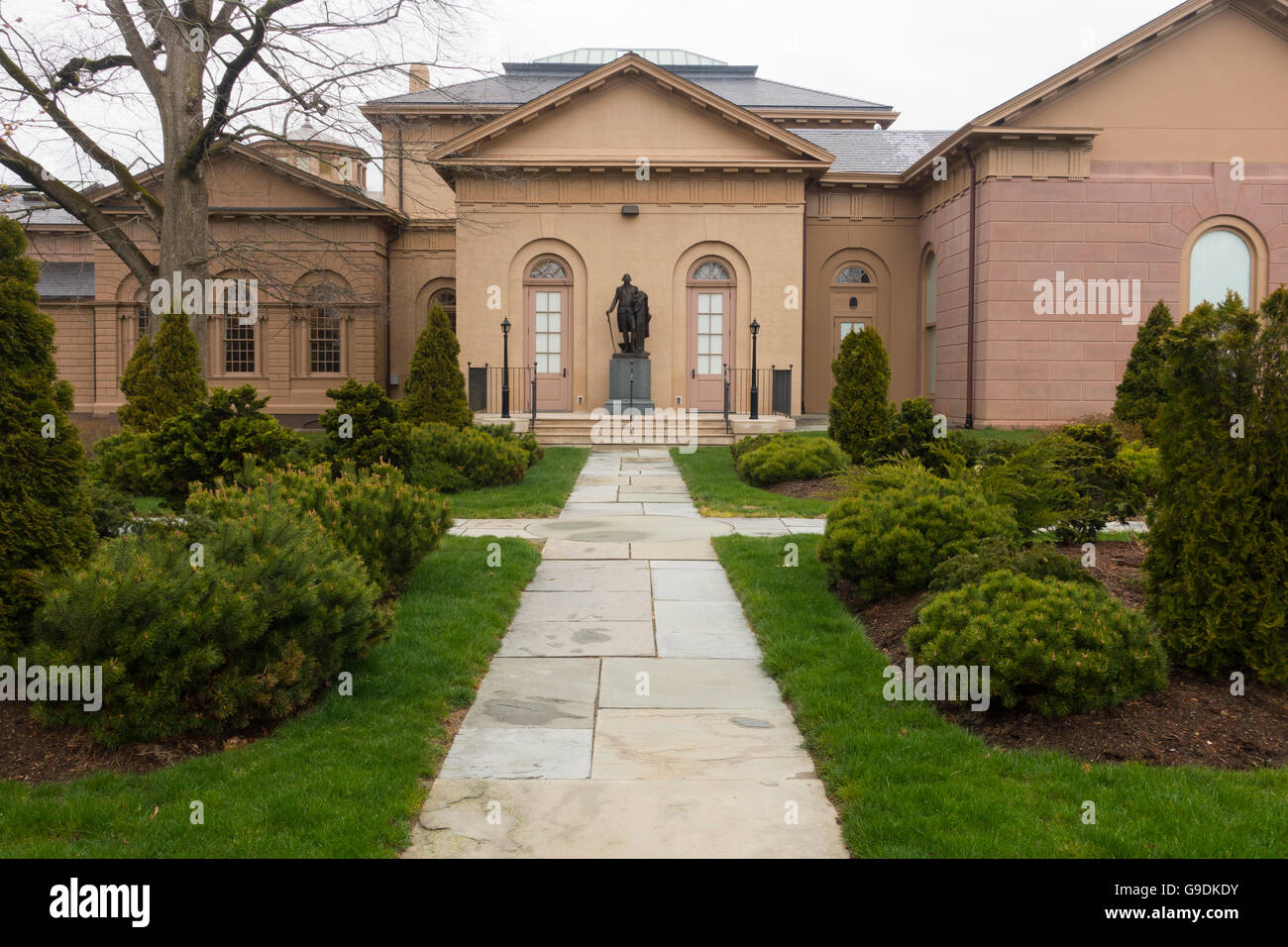 Redwood Library And Athenaeum Newport Rhode Island Stock Photo