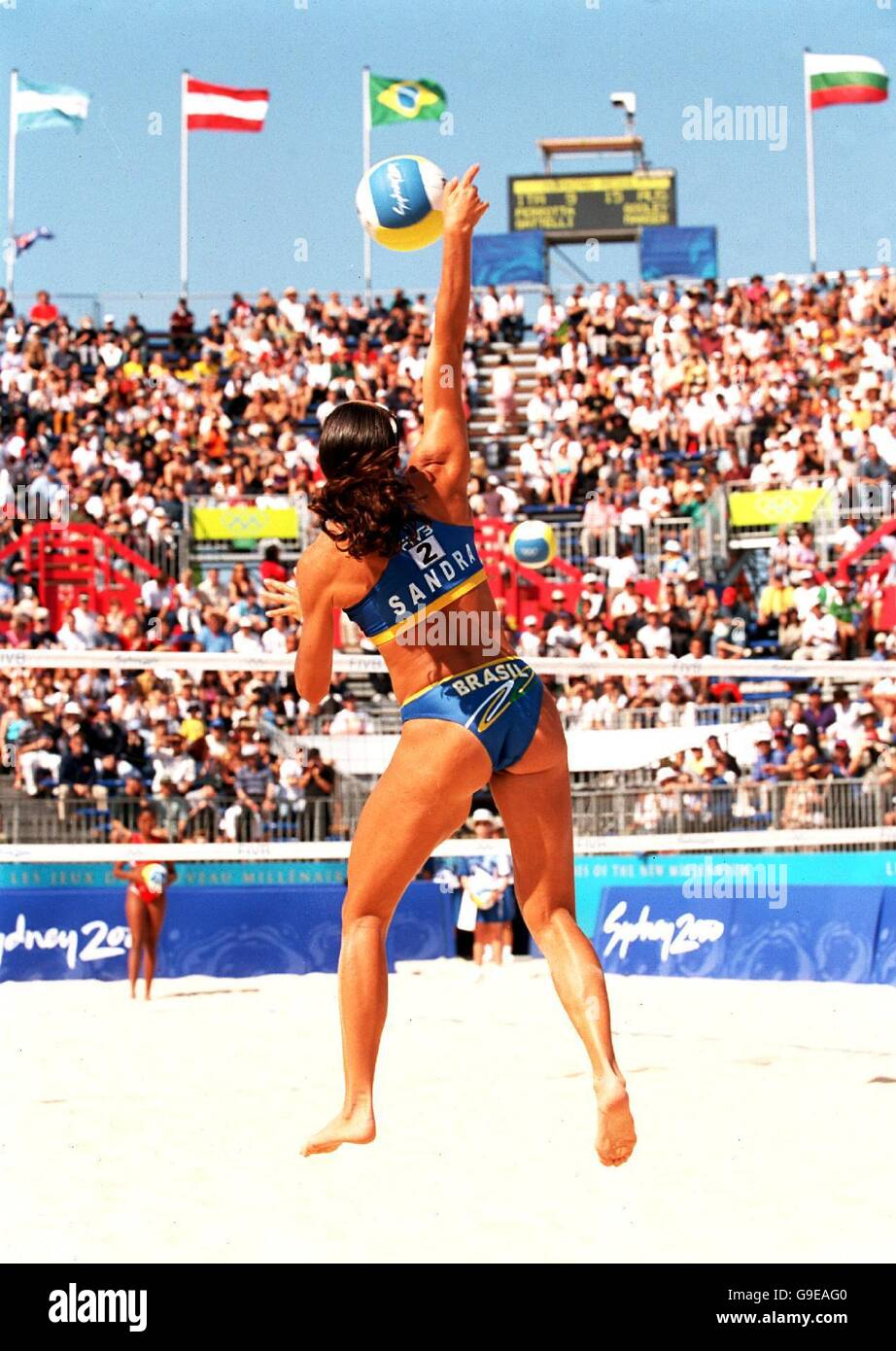 Women S Beach Volleyball Sydney 2000 Olympics Cuba V Brazil Stock Photo Alamy