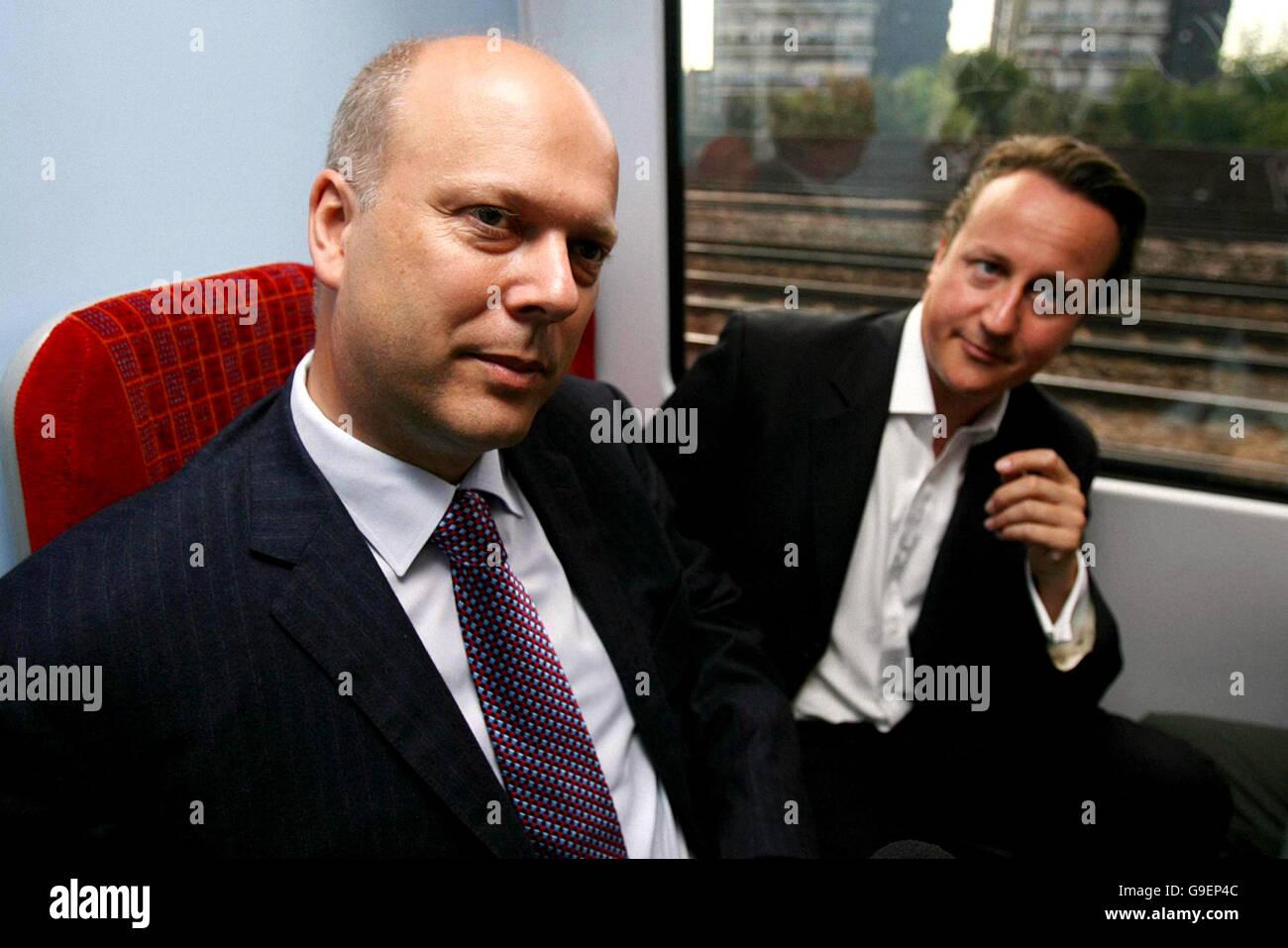 David Cameron at Clapham Junction railway station - Stock Image