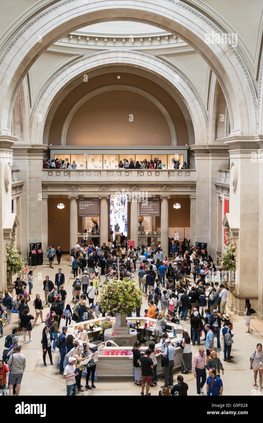 Great Hall at the Metropolitan Museum of Art, NYC, USA Stock Photo