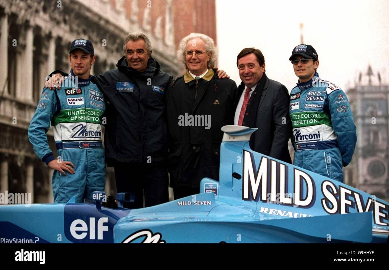 Formula One Motor Racing - Mild Seven Benetton Renault Sport B201 Launch - Venice - Stock Image