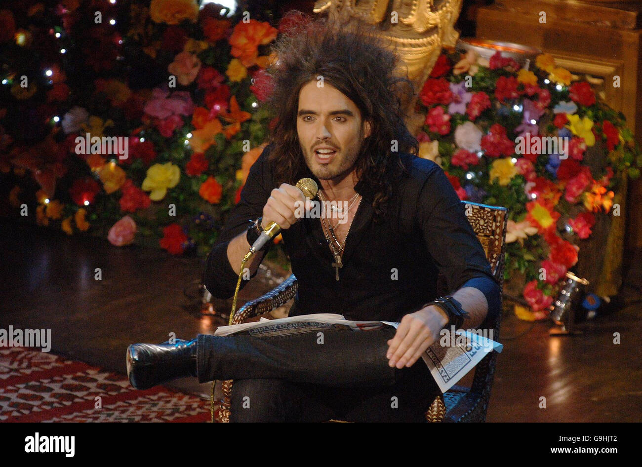 Russell Brand Live Stand-Up - Stock Image