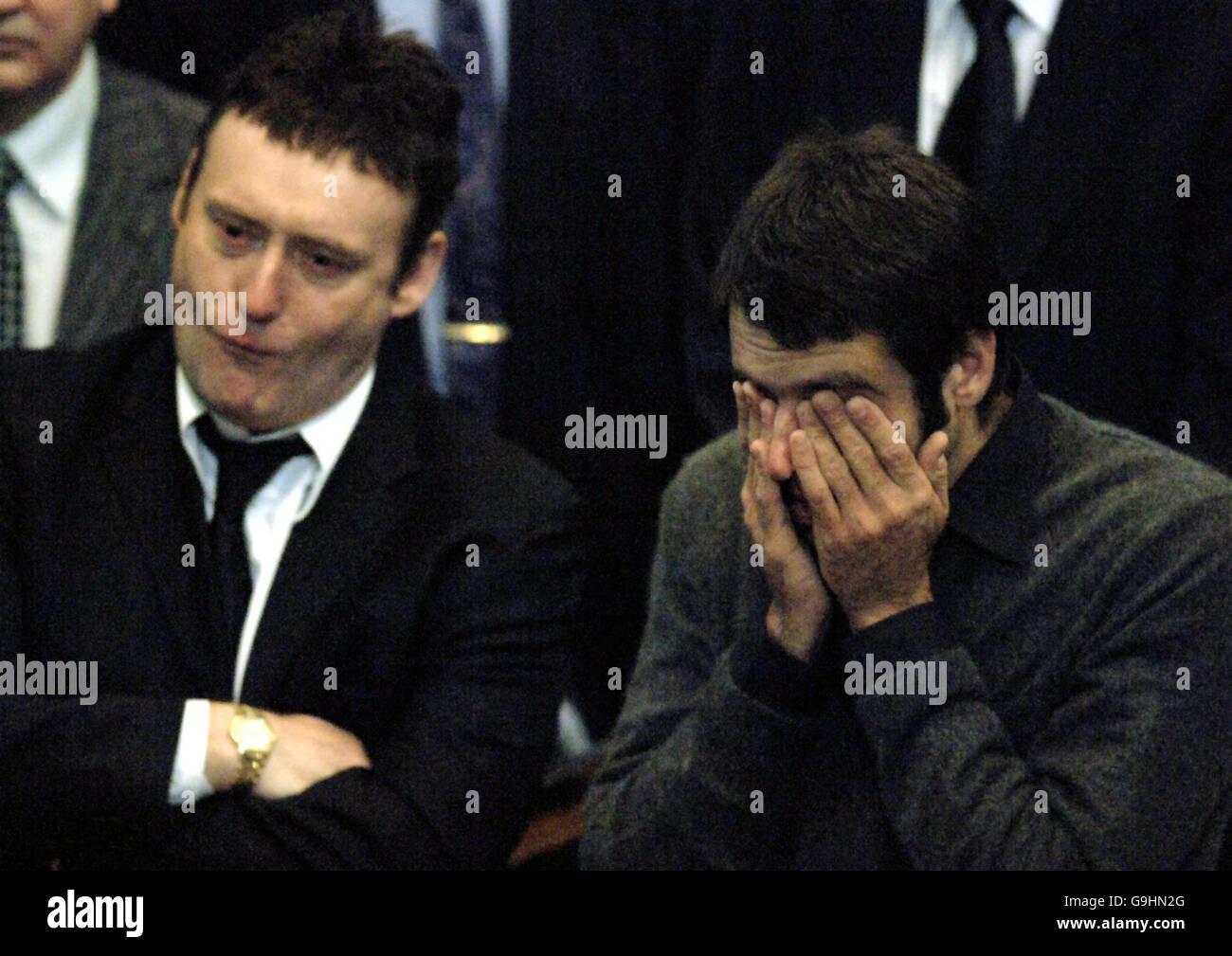 Paul Hunter funeral - Stock Image