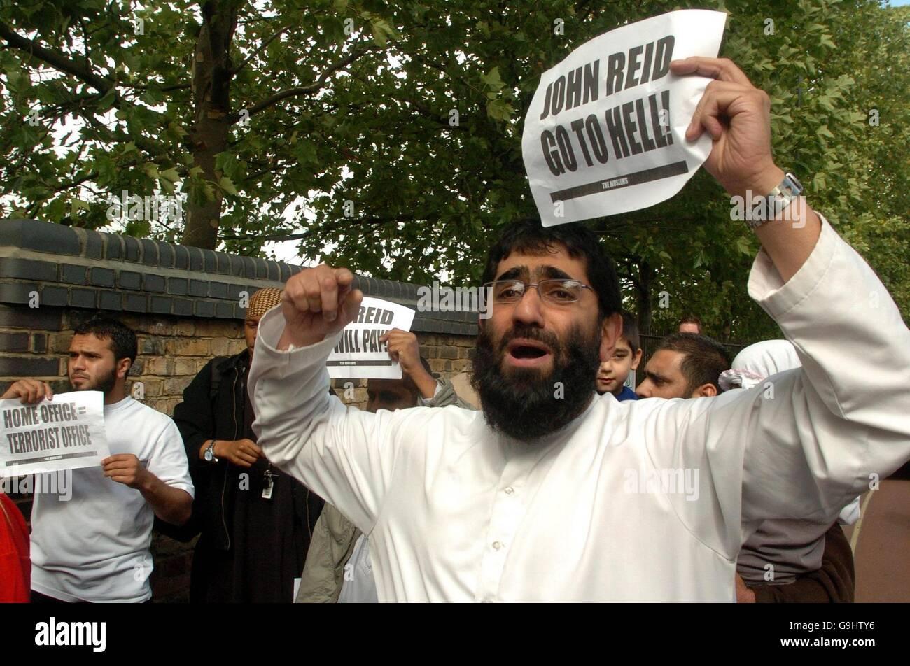John Reid speech to Muslim audience Stock Photo