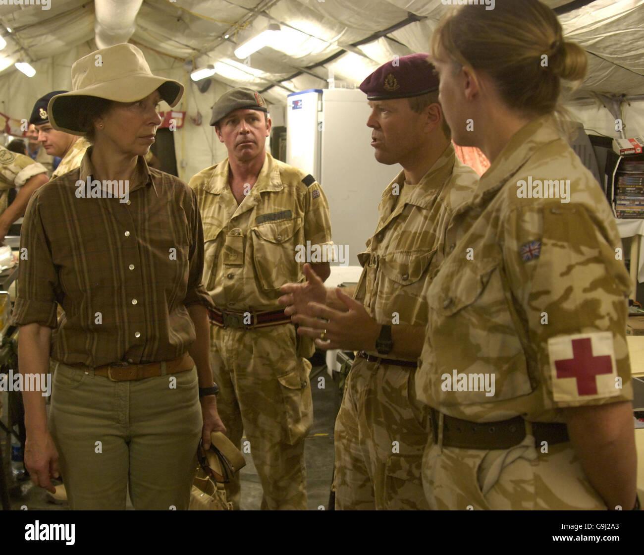 Princess Royal in Afghanistan - Stock Image
