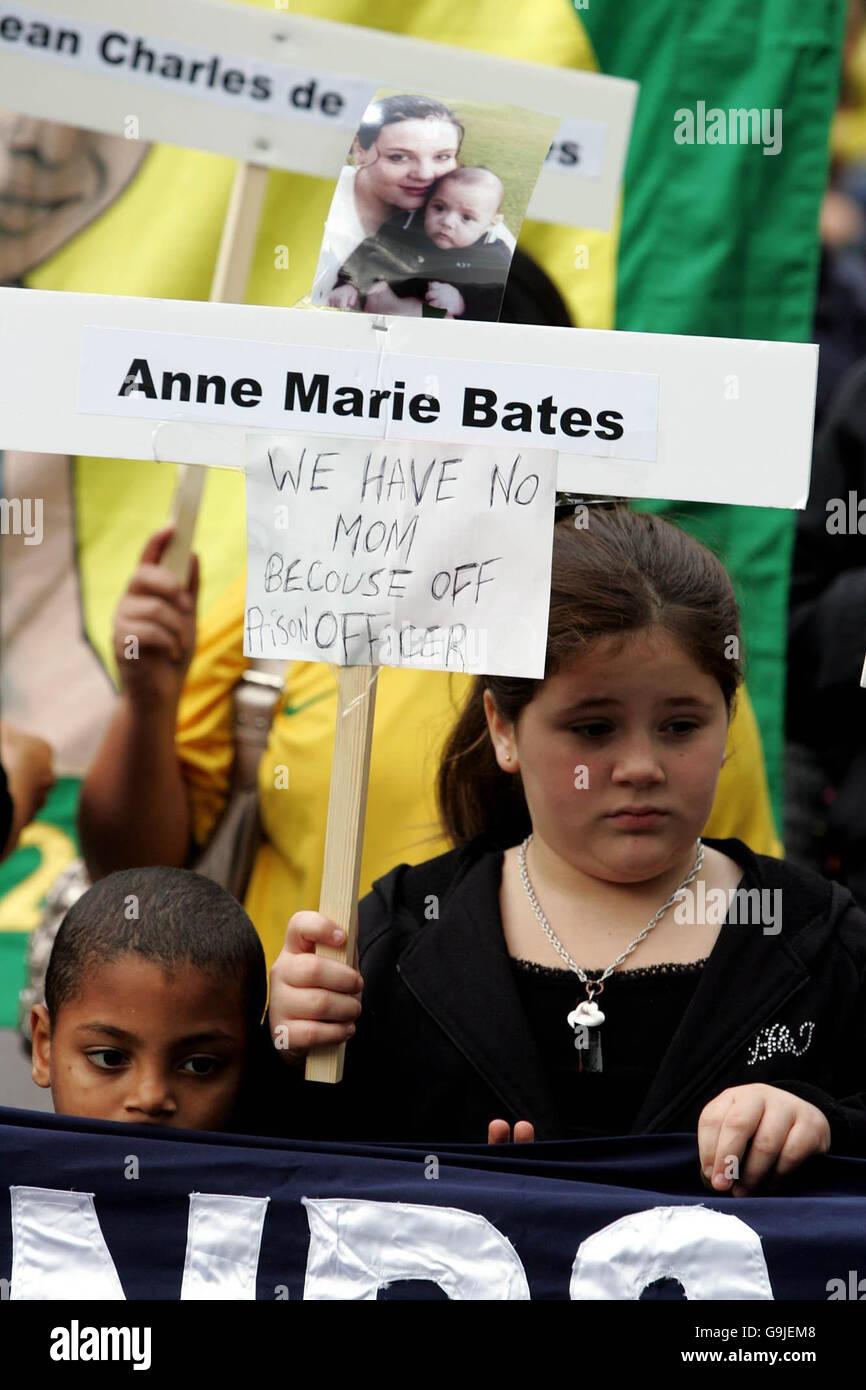 Custody deaths march - Stock Image