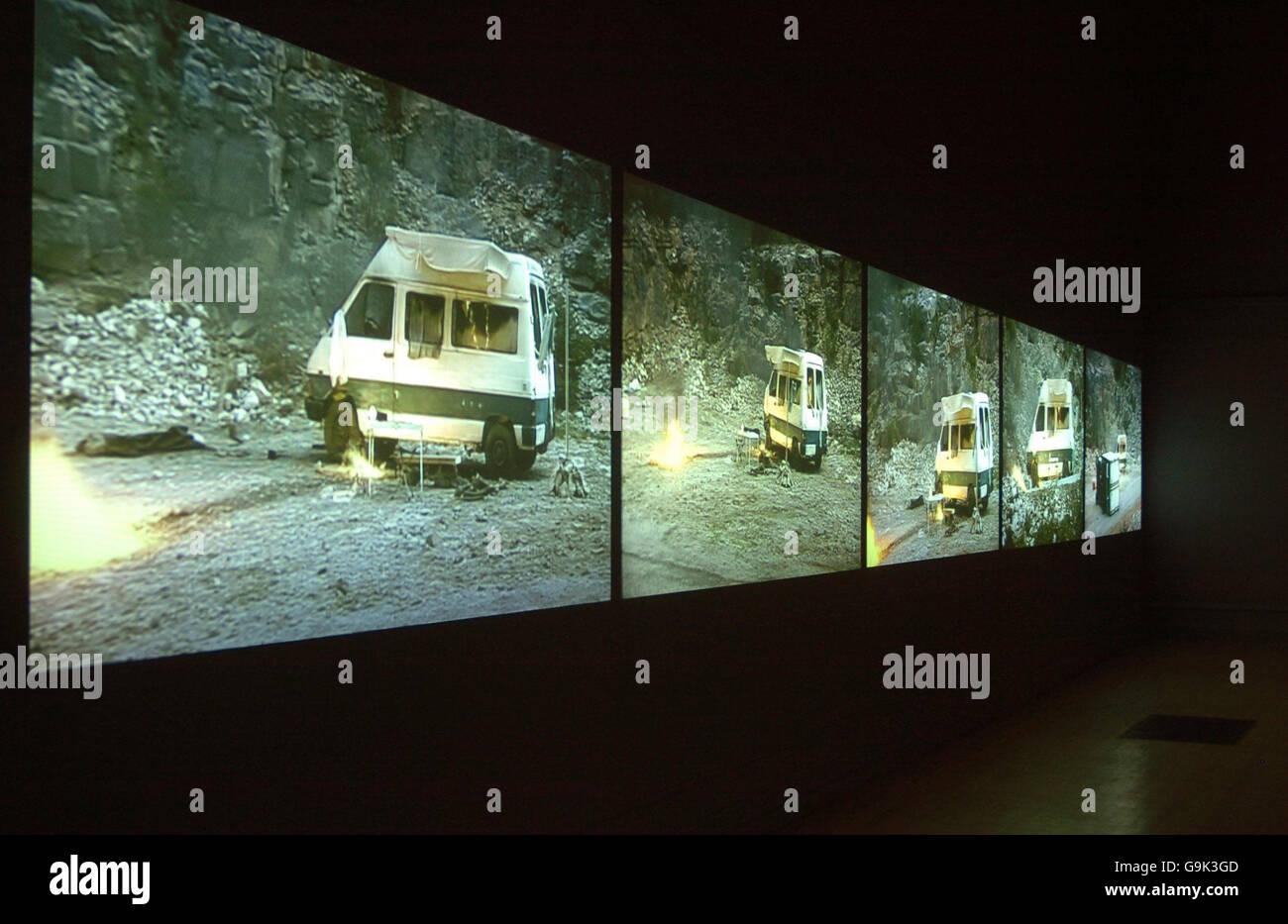 Melik Ohanian's dream-like video installation - Stock Image