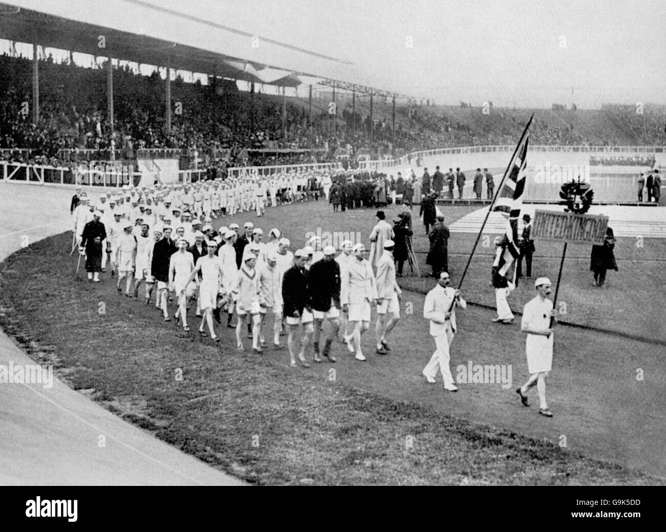 London Olympic Games 1908 - Opening Ceremony - White City - Stock Image