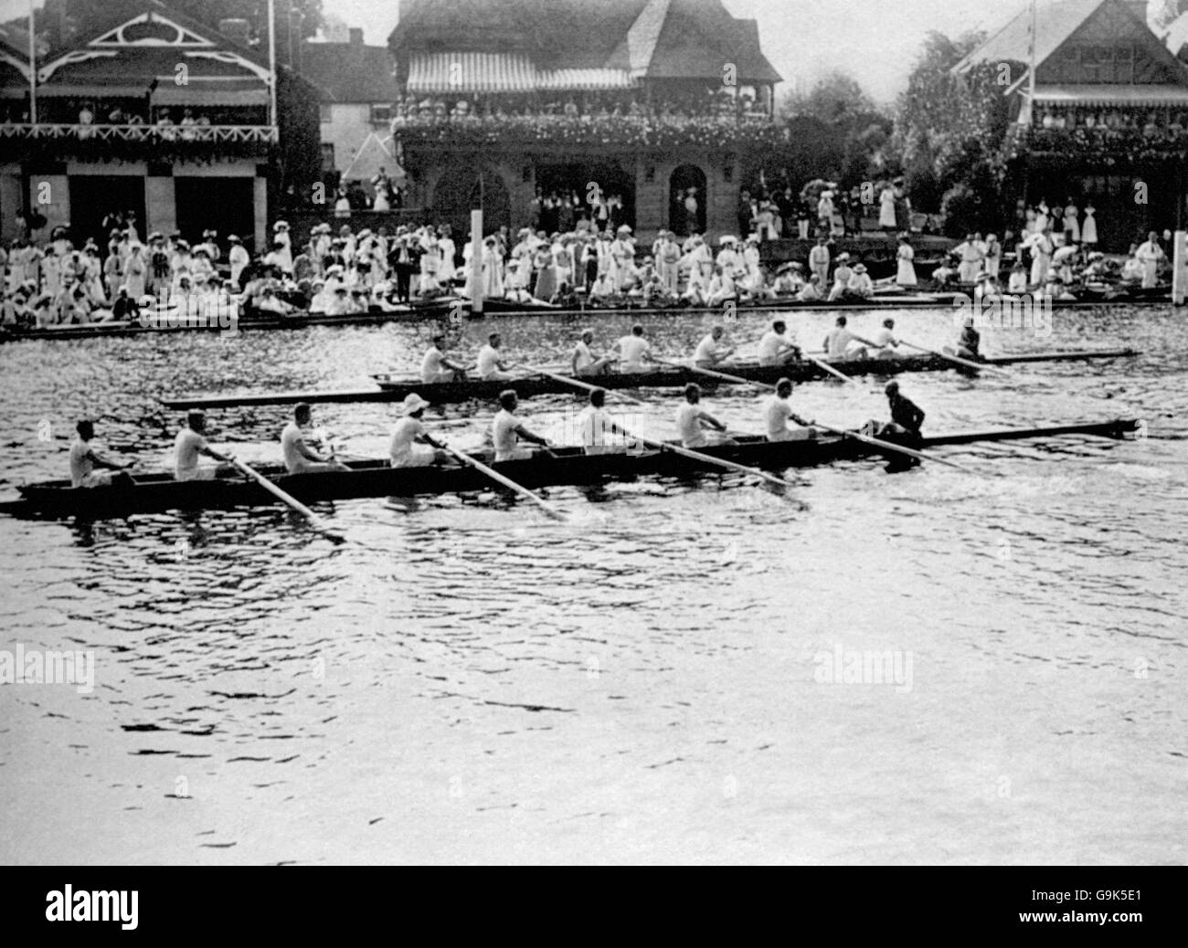 Rowing - London Olympic Games 1908 - Coxed Eights - Henley - Stock Image