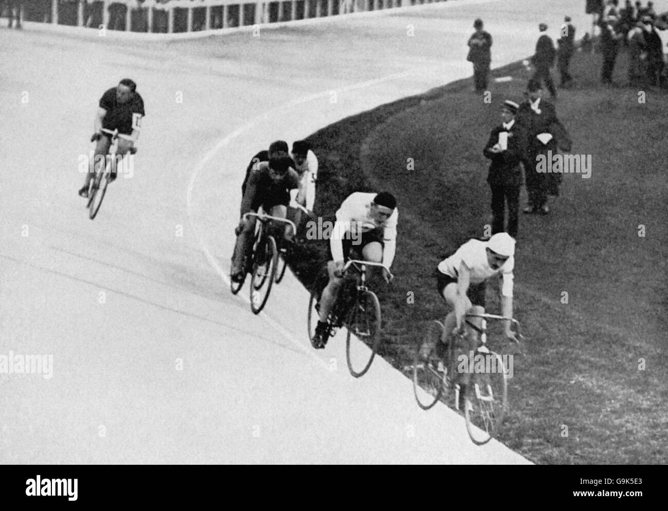 Cycling - London Olympic Games 1908 - 20km Track - Final - White City - Stock Image