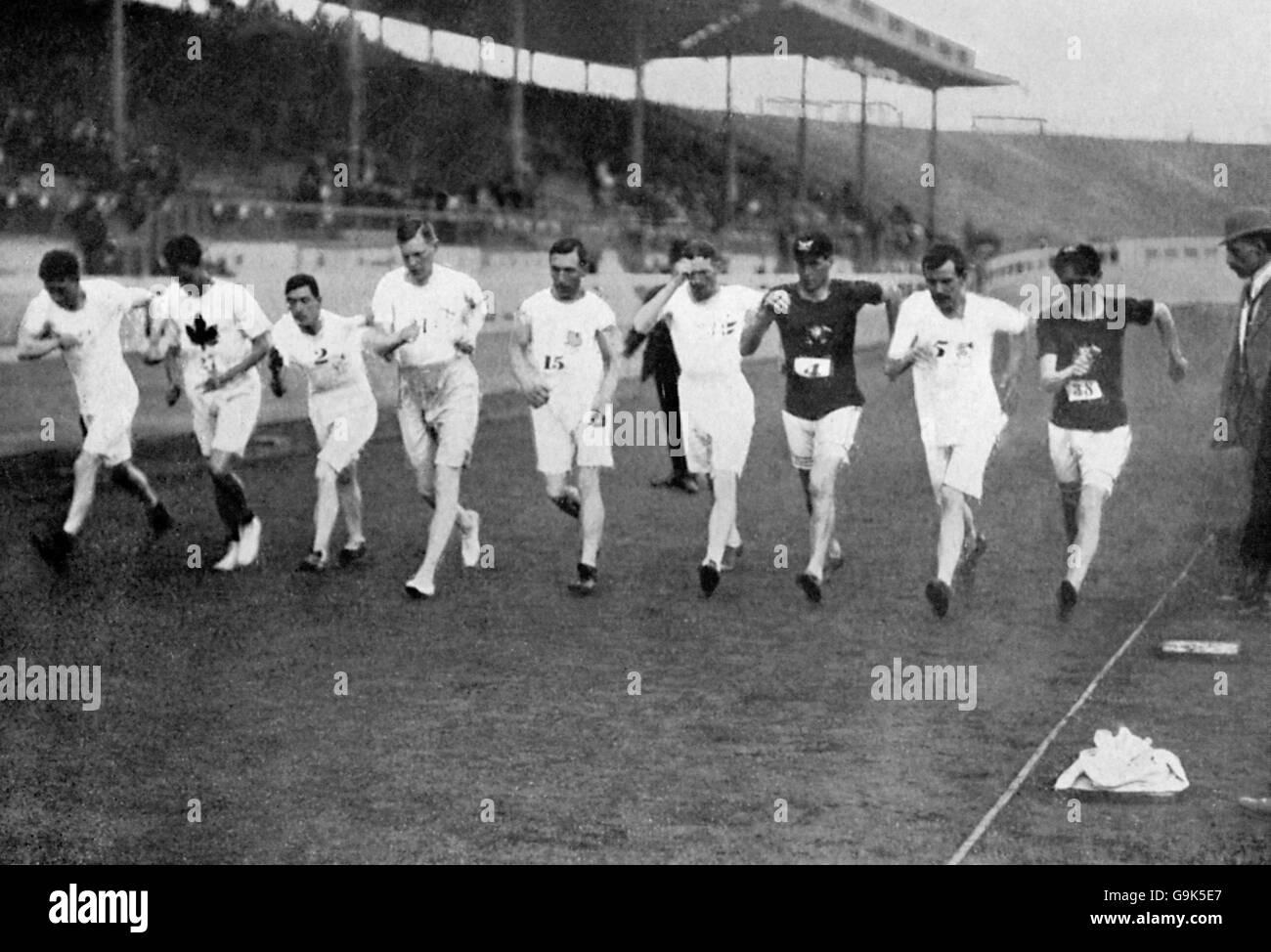 Athletics - London Olympic Games 1908 - 3500m Walk - White City - Stock Image