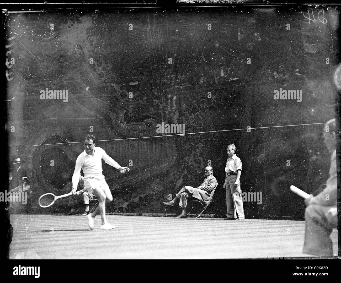 Tennis - Wimbledon Championships - Men's Singles - First Round - Fred Perry v M Bainville - Stock Image