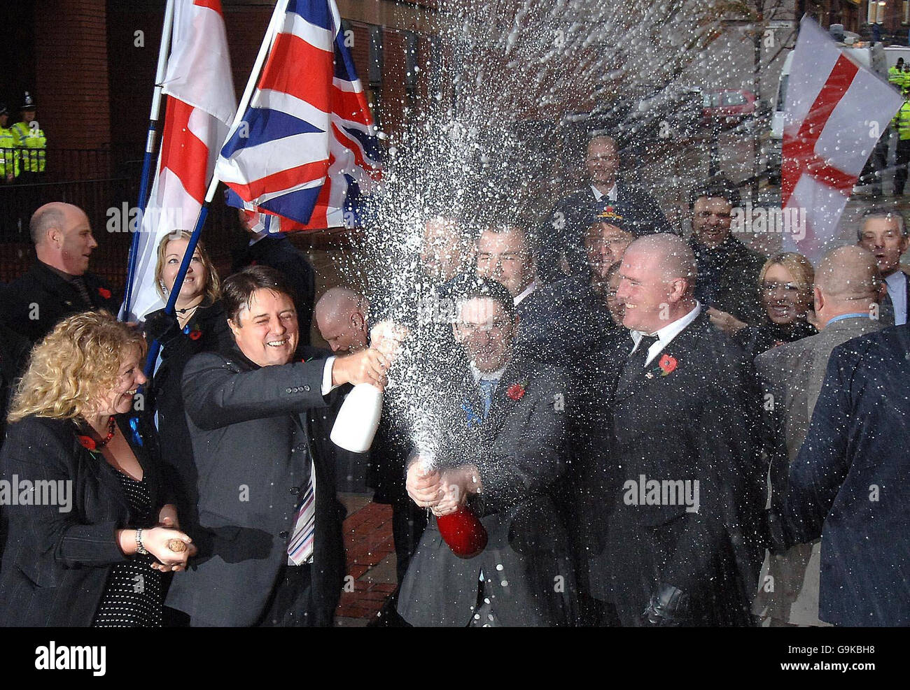 BNP Leader cleared of Race Hate Charges - Stock Image