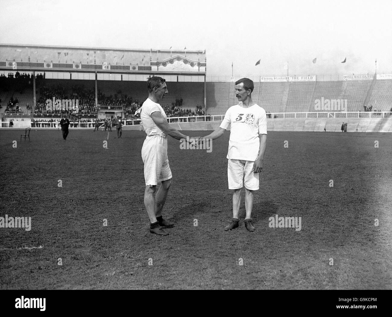 Athletics - London Olympic Games 1908 - White City - Stock Image
