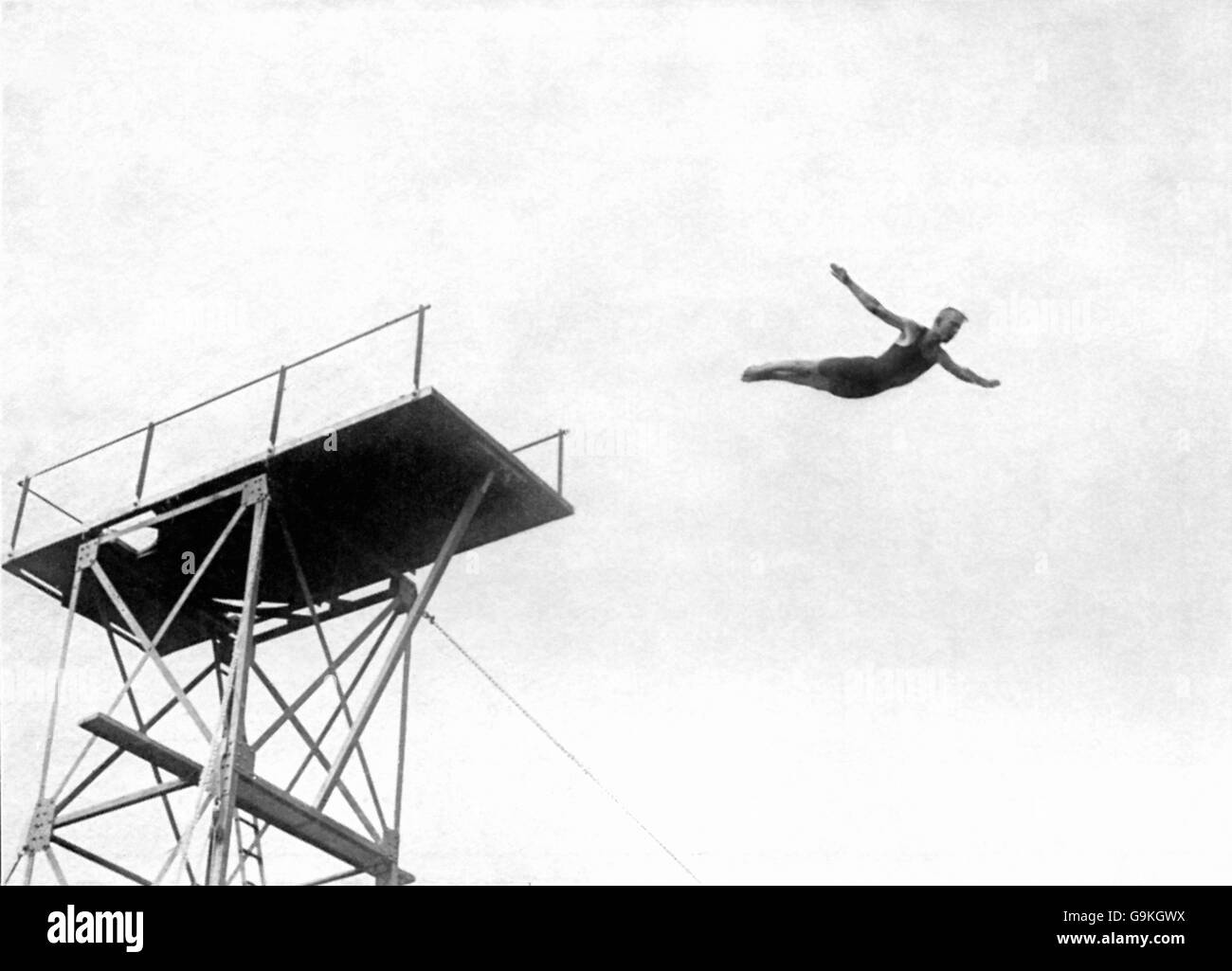 Diving - London Olympic Games 1908 - Highboard - White City - Stock Image