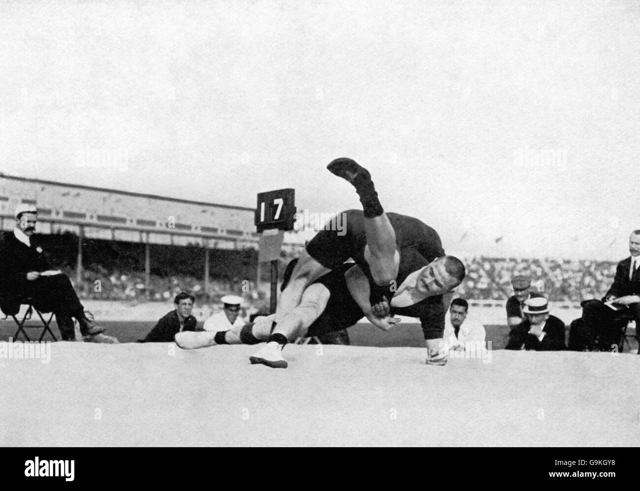 Greco-Roman Wrestling - London Olympic Games 1908 - Light Heavyweight Division - Final - White City - Stock Image