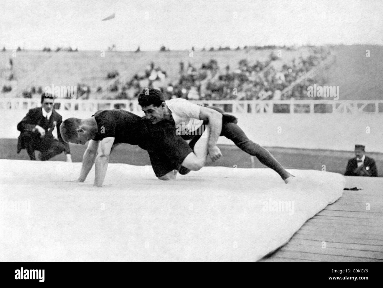 Freestyle Wrestling - London Olympic Games 1908 - Middleweight Division - Final - White City - Stock Image