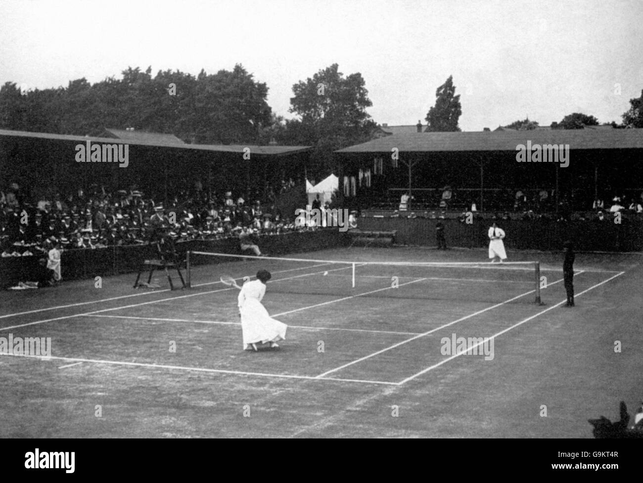 Tennis - London Olympic Games 1908 - Ladies' Singles - Final - The All England Club - Stock Image