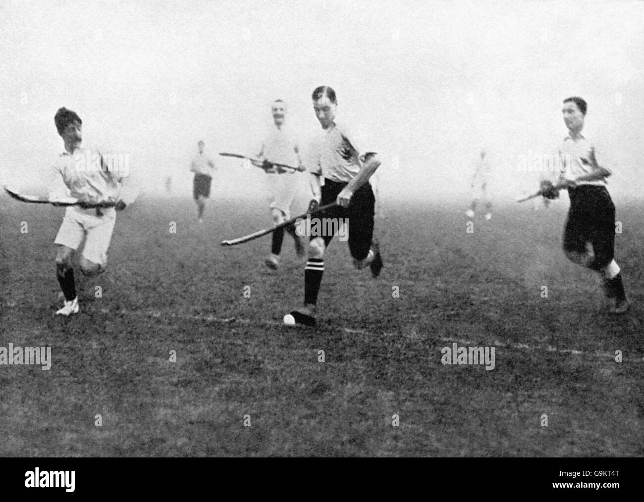 Hockey - London Olympic Games 1908 - First Round - Great Britain (England) v France - White City - Stock Image