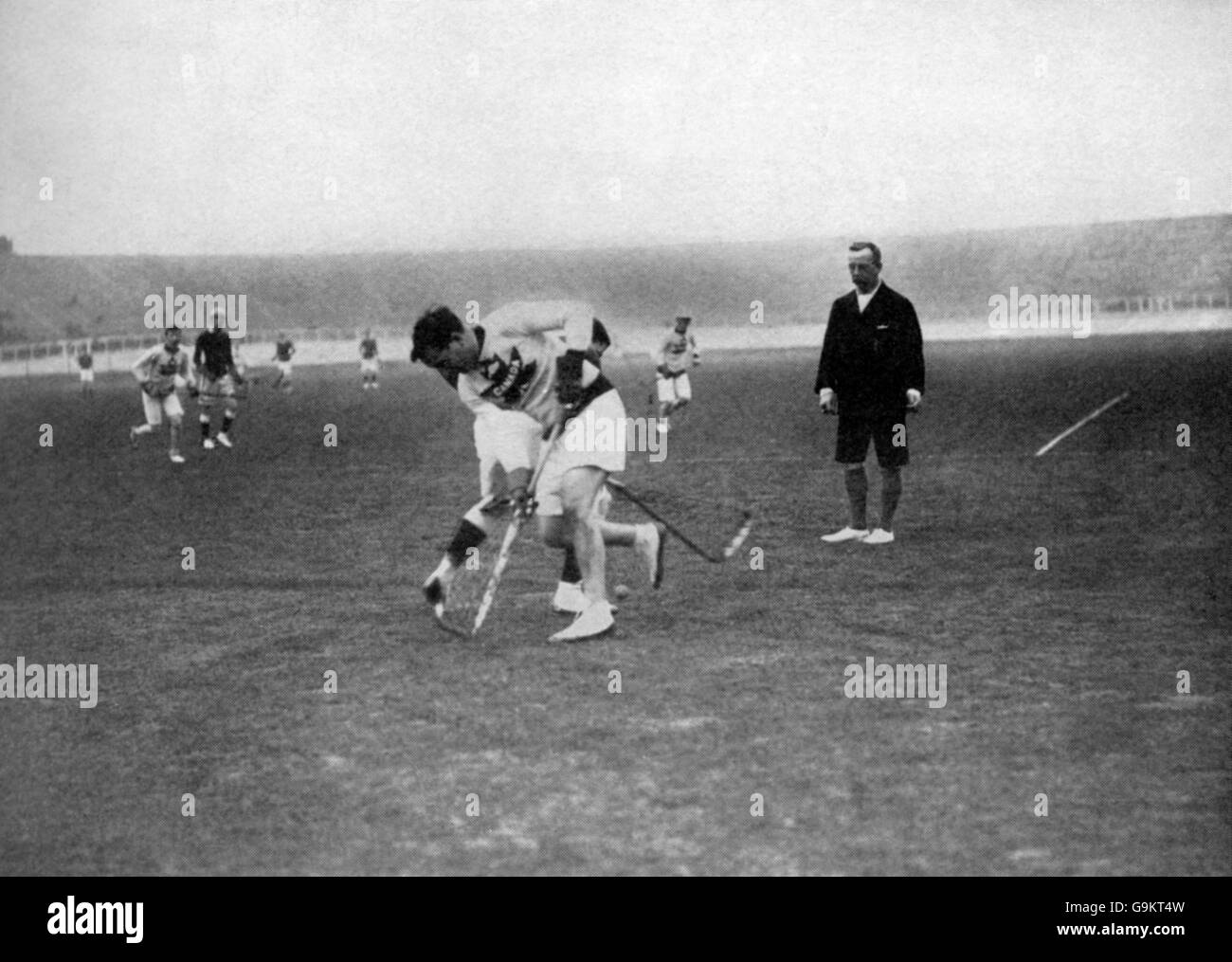 Lacrosse - London Olympic Games 1908 - Final - Great Britain v Canada - White City Stock Photo