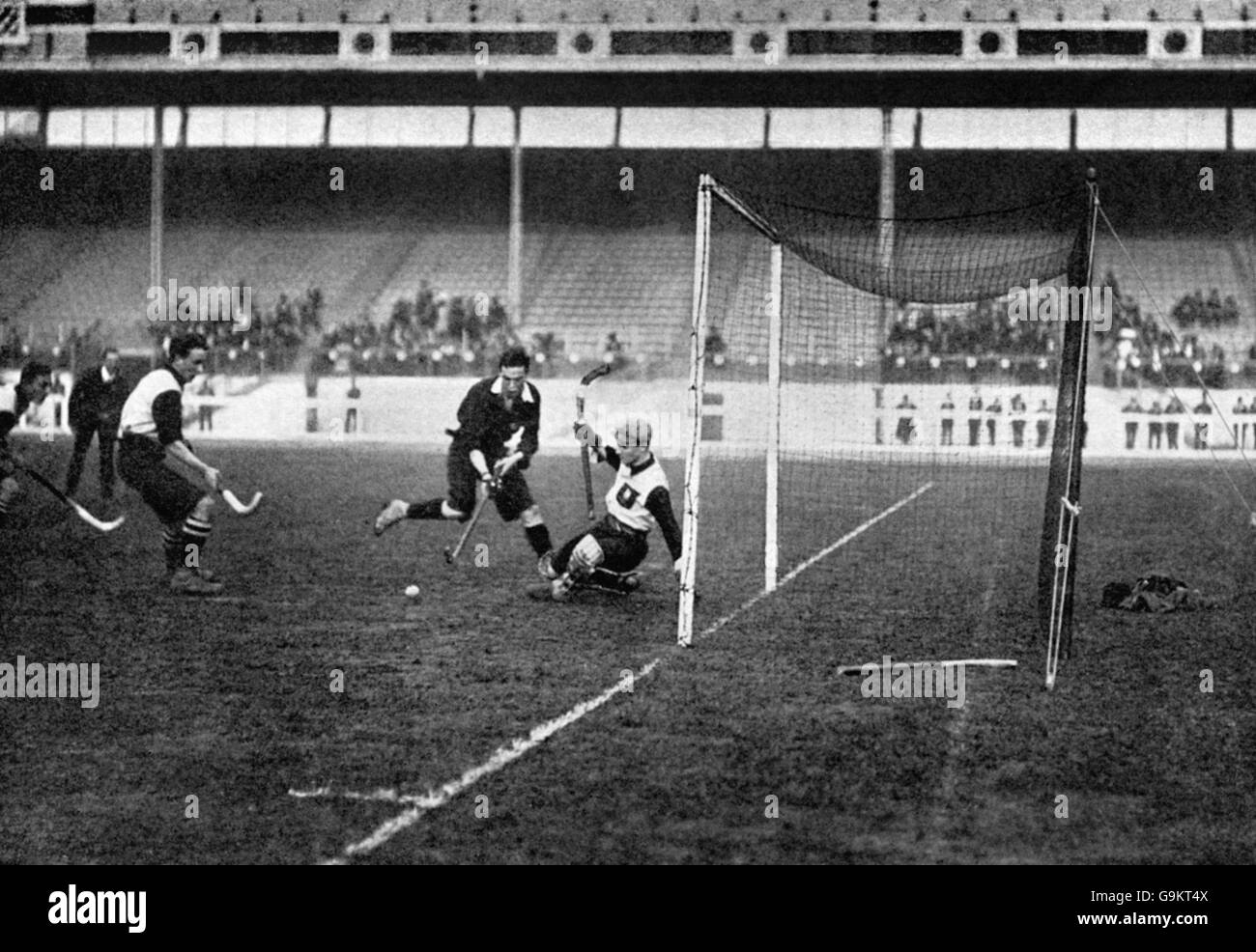 Hockey - London Olympic Games 1908 - First Round - Great Britain (Scotland) v Germany - White City - Stock Image