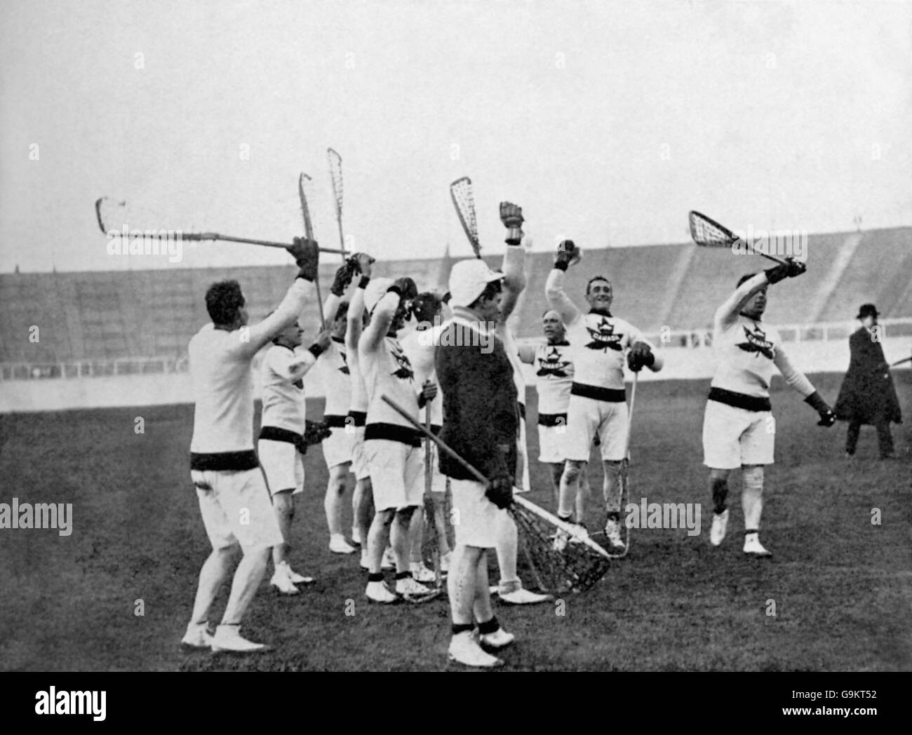 Lacrosse - London Olympic Games 1908 - Final - Great Britain v Canada - White City - Stock Image