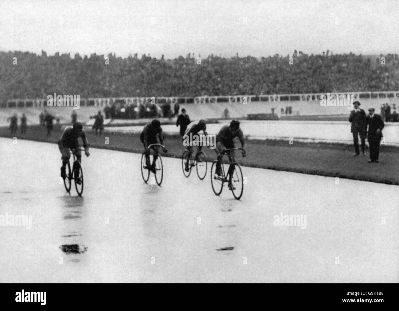 Cycling - London Olympic Games 1908 - 100km Track - White City - Stock Image