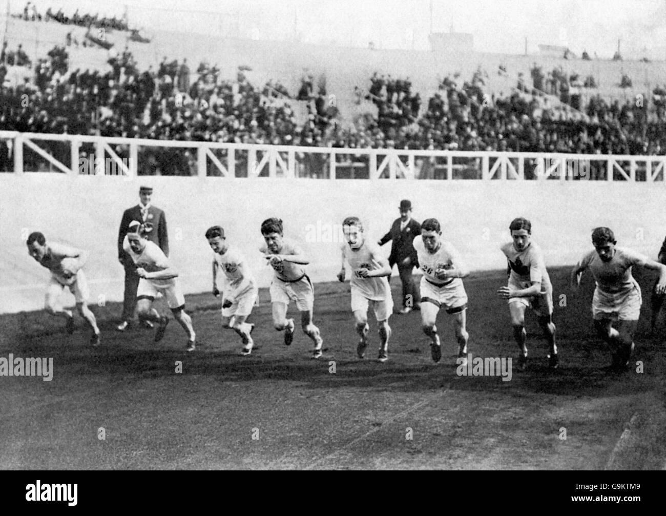 Athletics - London Olympic Games 1908 - 1500m - Final - White City Stock Photo