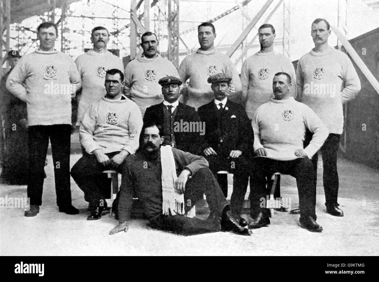 Athletics - London Olympic Games 1908 - Tug of War - Stock Image