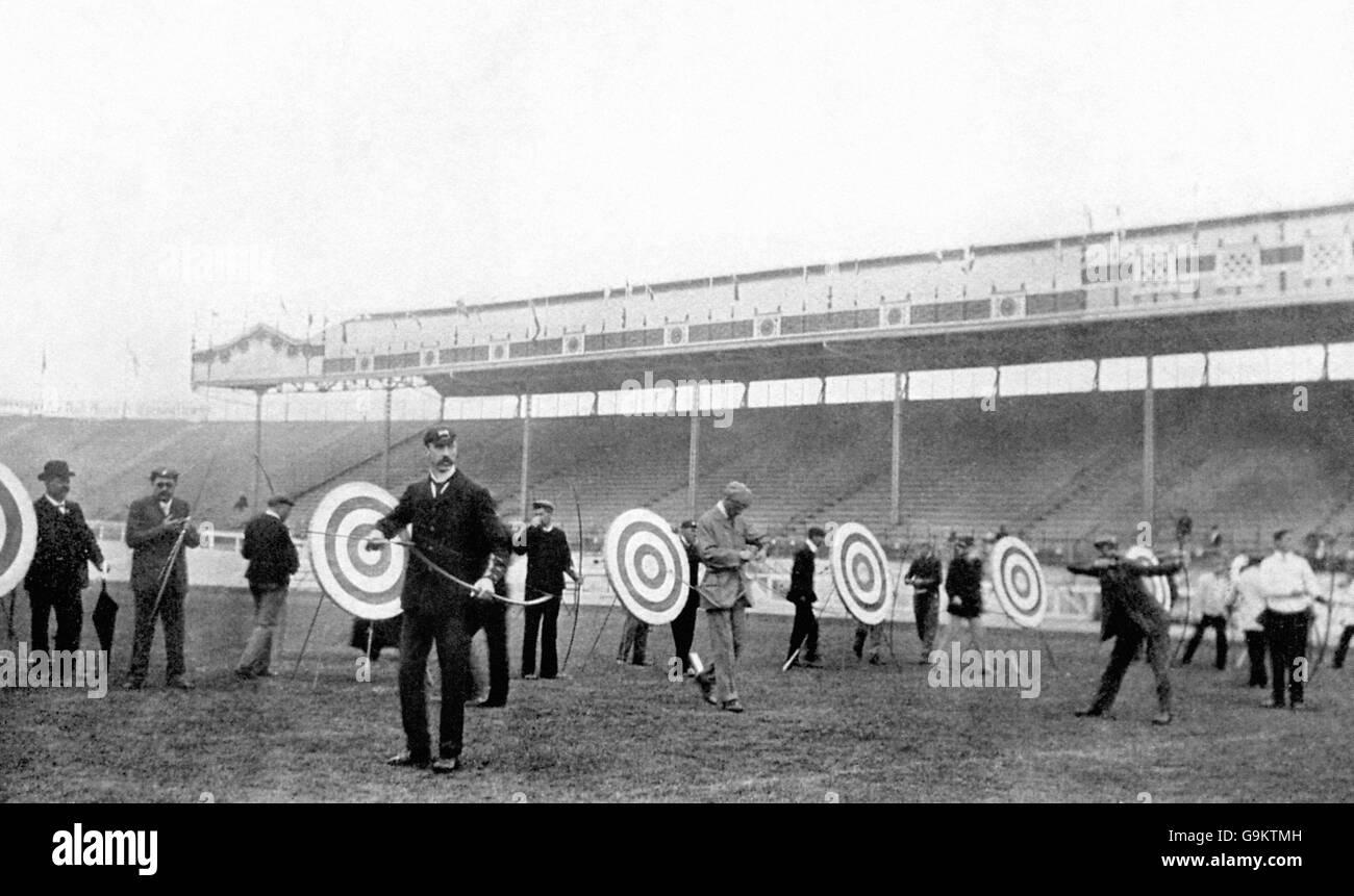 Archery - London Olympic Games 1908 - Men's York Round - White City - Stock Image