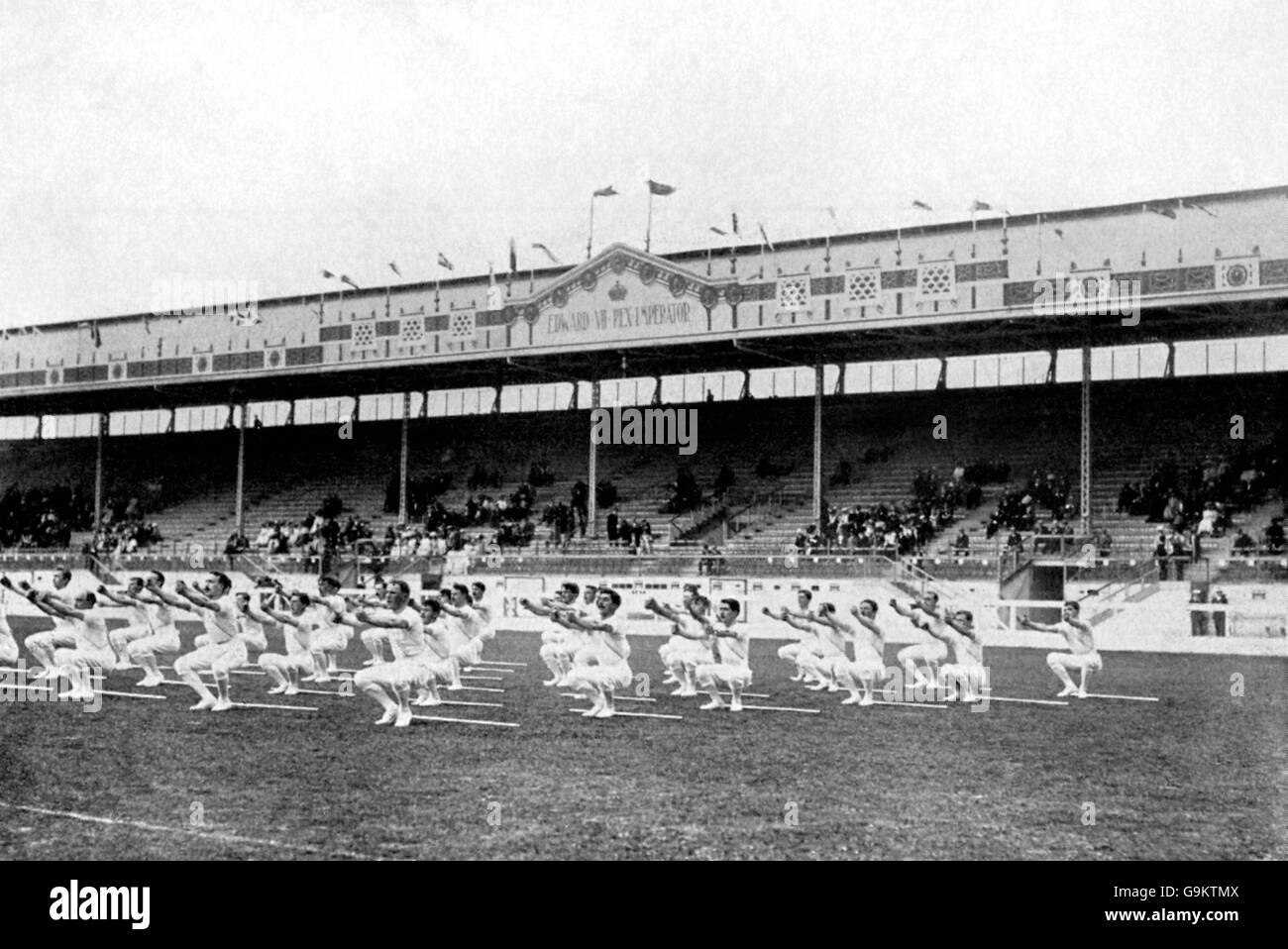 Gymnastics - London Olympic Games 1908 - Team Competition - White City - Stock Image